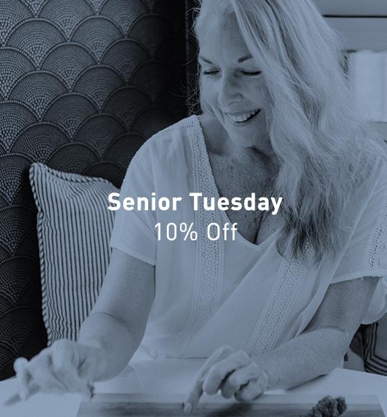 Senior Tuesday 10% off